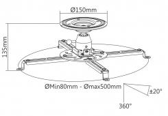 Потолочный крепеж для проектора PRB-16-04F